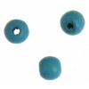 Wooden Bead Round 6mm Turquoise Lacquered